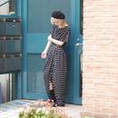 80's design dots dress