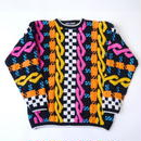 "80s ""KITTY HAWK""colorful knit"