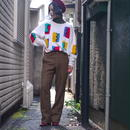 80s design colorful knit