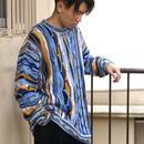 Multicolor 3D knit