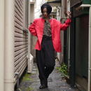 """Christian Dior"" no-collar jacket"