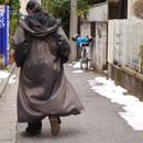 Reversible foodie long coat