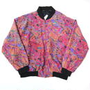 Colorful silk blouson