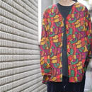 Colorful art no-collar shirt