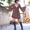 Lace-up mini dress