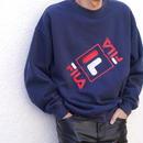 "90s ""FILA"" logo sweat shirt"