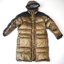 Gold long down coat