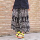 All pattern flare skirt