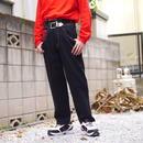 80s wide denim pants(with belt)