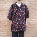 Oversized fire pattern shirt