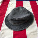 【USED】Levis's STRIPED DENIM bucket hat ブラック