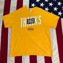 【USED】LA LAKERS THANKS PAU tee イエロー XL