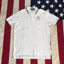 【USED】POLO RALPH LAUREN FLAG polo shirt ホワイト L