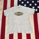 【USED】90s GUESS LOGO tee ミックスグレー L
