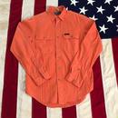 【USED】POLO RALPH LAUREN work shirt オレンジ S