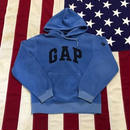 【USED】GAP LOGO FREECE hoodie サックス XS