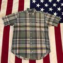 【USED】POLO RALPH LAUREN PLAID shirt ベージュ M