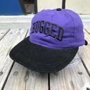 RUGGED on vintage ARCH LOGO adjuster cap パープル×ブラック