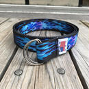 NO BRAND FLAME long belt ブルー