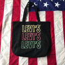 【USED】Levi's FLOWERS tote bag ブラック