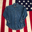 【USED】Wrangler DENIM western shirt ライトインディゴ M