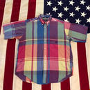 【USED】NAUTICA PLAID S/S shirt マルチ L