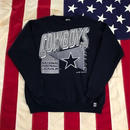 【USED】90s NFL DALLAS COWBOYS sweat ネイビー M