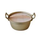 ホクア 段付鍋(木蓋つき) 大