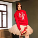 [Ballet Maniacs] 【限定】Pointe shoes reindeer Sweater