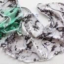 [Zi dancewear] 限定・Chiffon skirt (M丈), Marble in graffiti with Grey ribbon