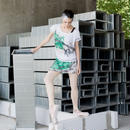 [Zi dancewear] 限定・Chiffon skirt (M丈), Marble in graffiti