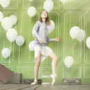 [Ballet Maniacs] プルオンバレエスカート(プリーツ加工シフォン)