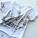 [Zi dancewear] Two-sided First T-shirt with the print facade mesh