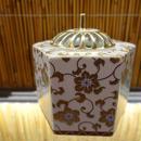 金山窯六角香炉(白粒鉄仙)