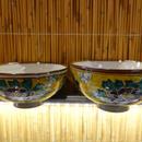 美山窯夫婦飯碗(吉田屋牡丹小)