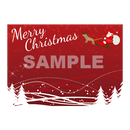 【POPテンプレート】クリスマス(赤色背景)