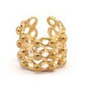 Raw Brass Adjustable Ring / Foam No,1