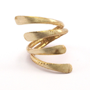Raw Brass Adjustable Ring / 4LINE
