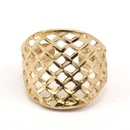 Raw Brass Adjustable Ring / Mesh No,2
