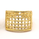 Raw Brass Adjustable Ring / Mesh No,1