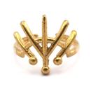 Raw Brass Adjustable Ring / Boho Style