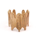Raw Brass Adjustable Ring / Feather No,1