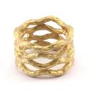 Raw Brass Adjustable Ring  / Branch