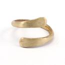 Raw Brass Adjustable Ring / 2LINE