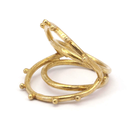 Raw Brass Adjustable Ring  / 3D 2LINE