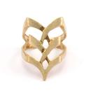 Raw Brass Adjustable Ring  / Boho