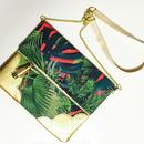 Tropical  Leaf  Chain Clutch/Red