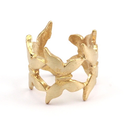 Raw Brass Adjustable Ring / Butterfly