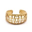 Raw Brass Adjustable Ring / Mesh No,3