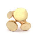 Raw Brass Adjustable Ring / 3D ○Art